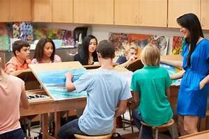 High School Art Class With Teacher Stock Photo - Image ...