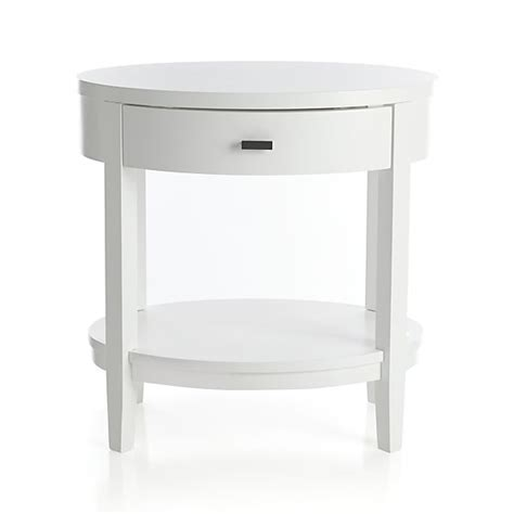 Oval Nightstand by Arch White Oval Nightstand In Arch White Beds Crate And