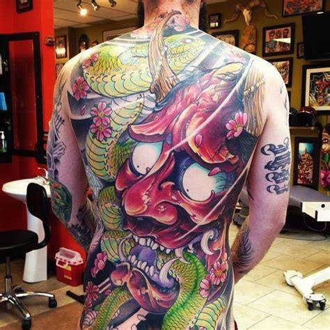 tatouage doni masque japonais  inkage