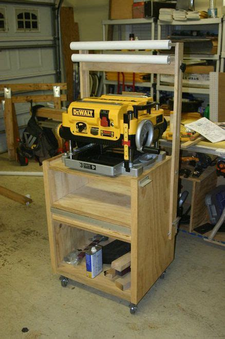 rolling planer stand  images diy wood projects