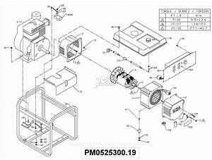 Powermate Formerly Coleman Pm0525300 19 Parts Diagram For Generator Parts