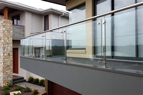 stainless steel square spider baluster post  glass