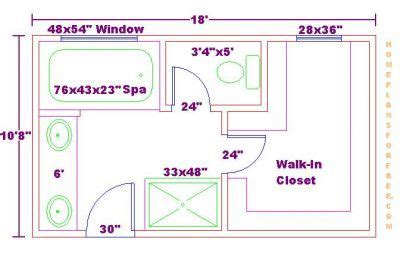 Bathroom Floor Plans With Walk In Closets by Bathroom And Closet Floor Plans Free 10x18 Master