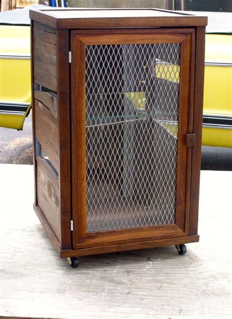 image of gun storage liquor crafted custom scotch display cabinet in reclaimed