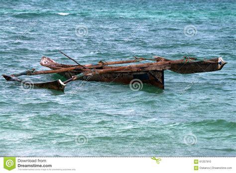 Trimaran Ocean Sailing by Tropical Trimaran Boat Stock Photo Image 61207910