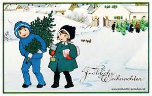 sprüche für weihnachtskarten weihnachtskarten mit kindern und weihnachtsmann alte postkarten