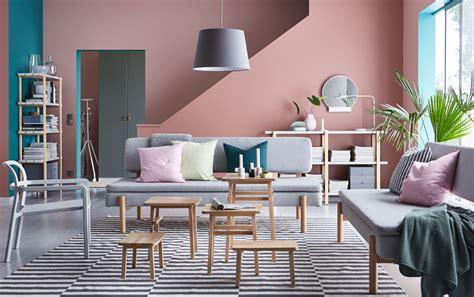 soggiorno grigio  rosa  idee  abbinare  gusto