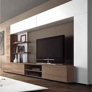 Meuble Tv Mur : meuble tv contemporain design meuble tv ecran plat ~ Teatrodelosmanantiales.com Idées de Décoration