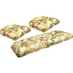jordan manufacturing floral outdoor tufted 3 piece wicker