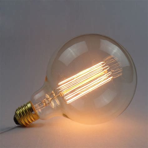 incandescent bulb e27 40w 220v g125 globe retro edison