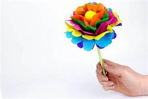 Fleur En Papier De Soie : faire une fleur en papier m thode facile activit s ~ Nature-et-papiers.com Idées de Décoration