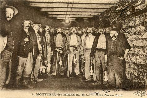 montceau les mines des mineurs de fond cartes postales