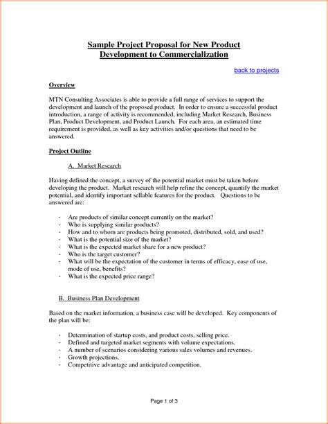 sample proposal template  project project proposal
