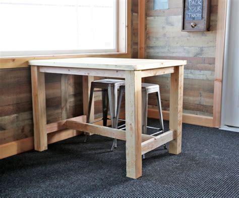counter height farmhouse table   ana white