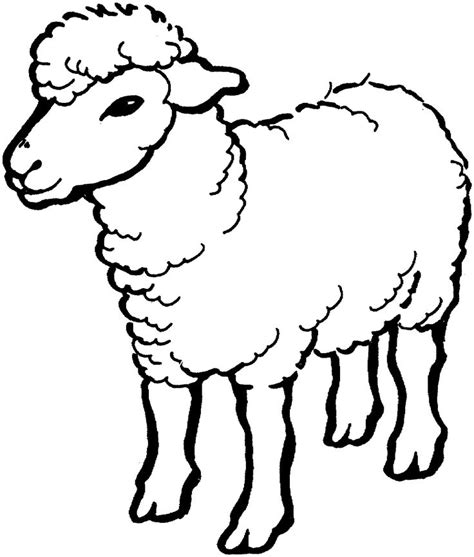 sheep coloring page farm animal coloring pages animal