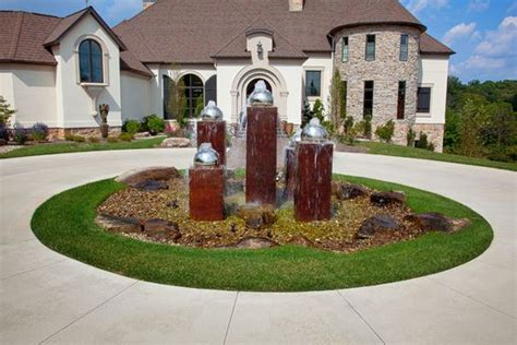 Landscaping Ideas Front Yard Circular Driveway Decorations