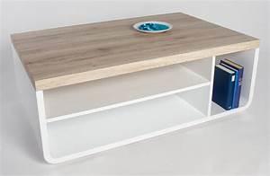 Table Basse Blanc Laqué Et Bois : table basse blanche et bois table pliante trendsetter ~ Teatrodelosmanantiales.com Idées de Décoration