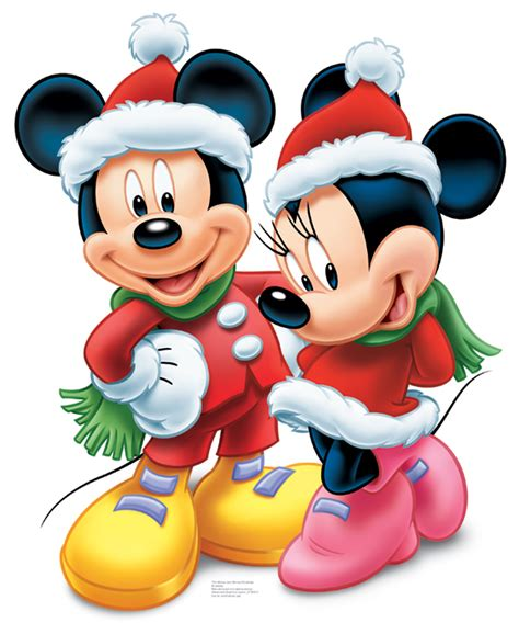 mickey mouse and minnie mouse christmas