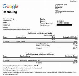 Reverse Charge Rechnung Muster : umsatzsteuer bei google adwords bing und facebook advoad ~ Themetempest.com Abrechnung