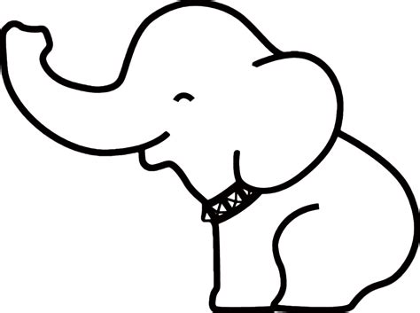 elephant outline clipartioncom