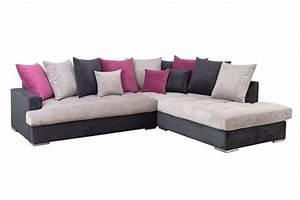 canape d39angle a droite habana noir gris fushia With tapis enfant avec canapé d angle à droite