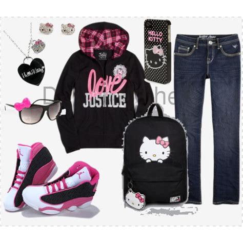 Hello Kitty Outfit #hellokitty #jordan #justice   Jordan23#   Pinterest   Cheap nike air max ...