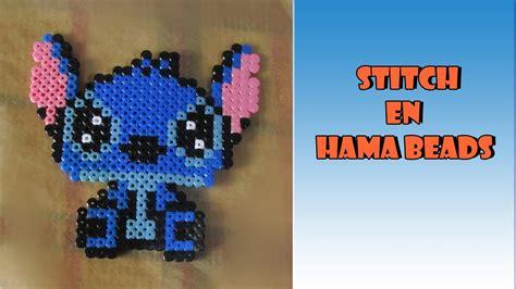 Como hacer a Stitch en hama beads YouTube