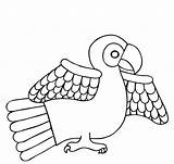 Parrot Coloring Printable Animal sketch template