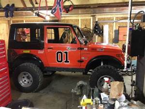 Buy Used 1988 Suzuki Samurai 4x4 1 3 Liter Lifted In New Waterford  Ohio  United States  For Us