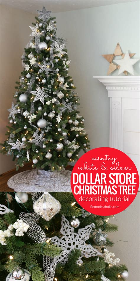 remodelaholic wintry white  silver christmas tree