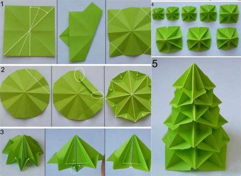 Falten Weihnachten by Origami Weihnachten Falten Faltanleitung Weihnachtsbaum