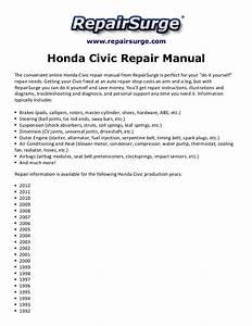 Honda Civic Repair Manual 1990 2012