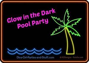 Glow in the Dark Neon Night Pool Party
