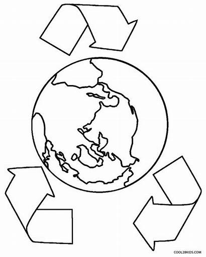 Earth Coloring Pages Printable Global Drawing Warming