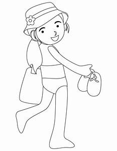 Bathing Suit Coloring Pages Preschool Coloring Pages