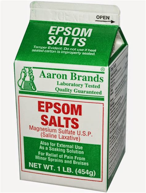 The Domestic Curator: The Many Uses Of Epsom Salt