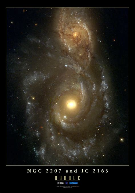 ngc  colliding galaxies esahubble