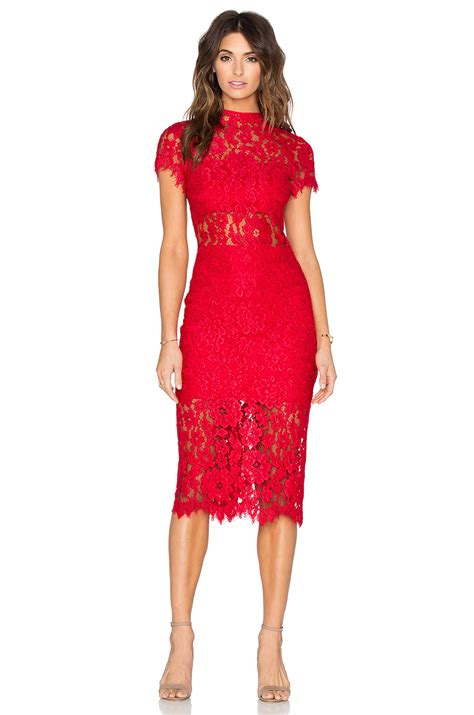 Lyst  Alexis Leona Lace Dress In Red