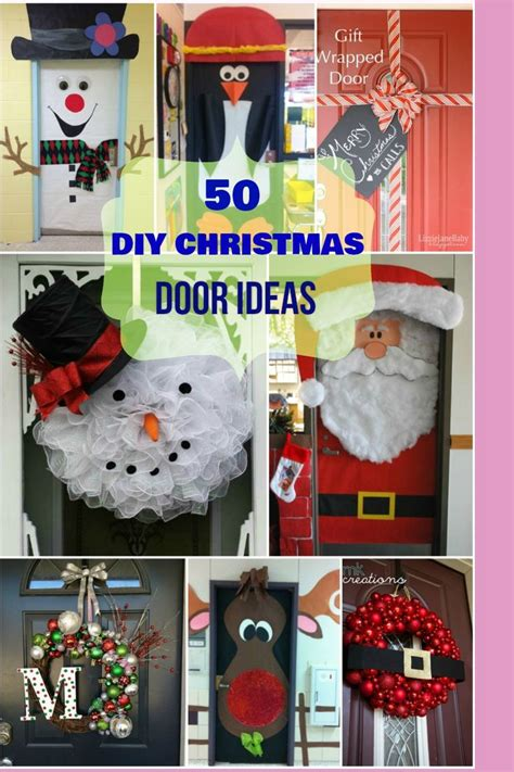 unique holiday door decor 1000 ideas about door decorations on door door