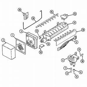 Ice Maker Diagram  U0026 Parts List For Model Gc2227dedb Maytag