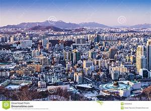 Seoul Skyline stock image. Image of asia, commercial ...