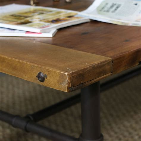 Rustic Industrial Style Coffee Table  Melody Maison®