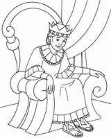 King Coloring sketch template
