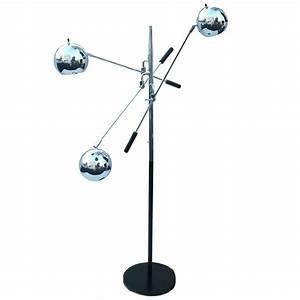 Robert sonneman triennale atomic orbiter chrome floor lamp for Milano chrome floor lamp
