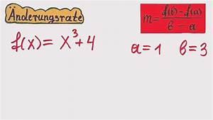 Abstand Zweier Funktionen Berechnen : video nderungsrate in mathe berechnen so klappt 39 s f r funktionen ~ Themetempest.com Abrechnung