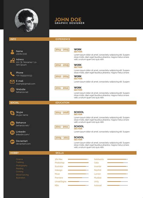 clean  color resume template  indesign indd