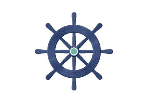 Nautical Wheel Machine Embroidery Design