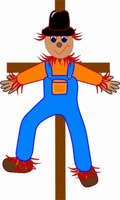 Scarecrow Clip Clipart Happy Hat Cliparts Clker