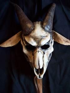 Goat Skull Halloween Mask By Coffinhunter13 On Etsy