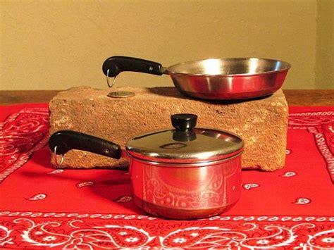 kids revere ware pot  pan vintage toy cookware miniature toy cookware revere ware vintage